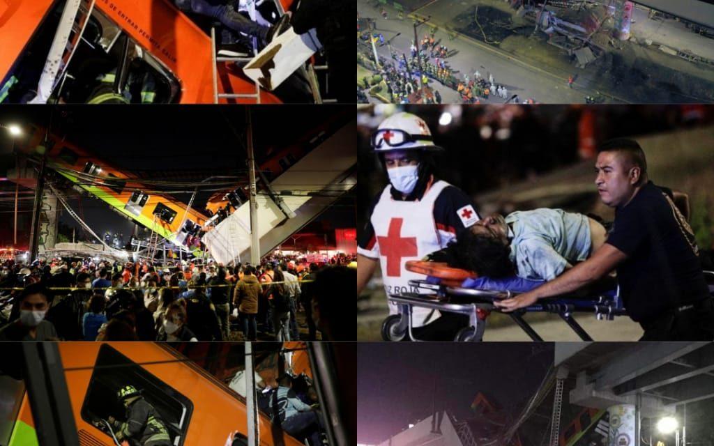 At Least 23 Dead, 70 Injured in Mexico City Underground Rail Bridge Collapse